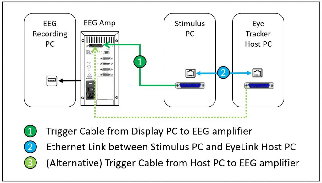 Combined TTL and Messaging for Eye Tracking - EEG Integration
