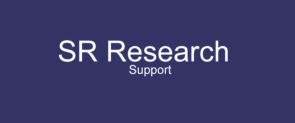 SR Research Support Forum