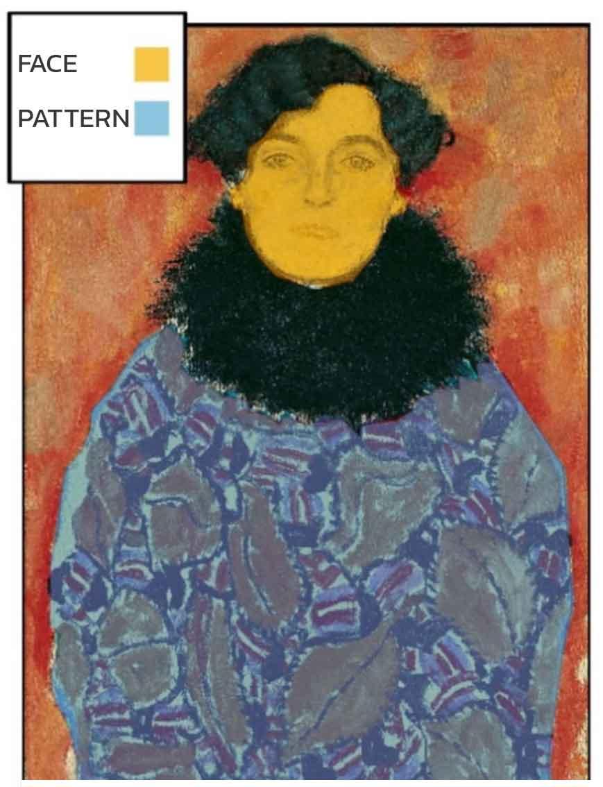 Gustav Klimt - Johanna Staude - Areas of Interest