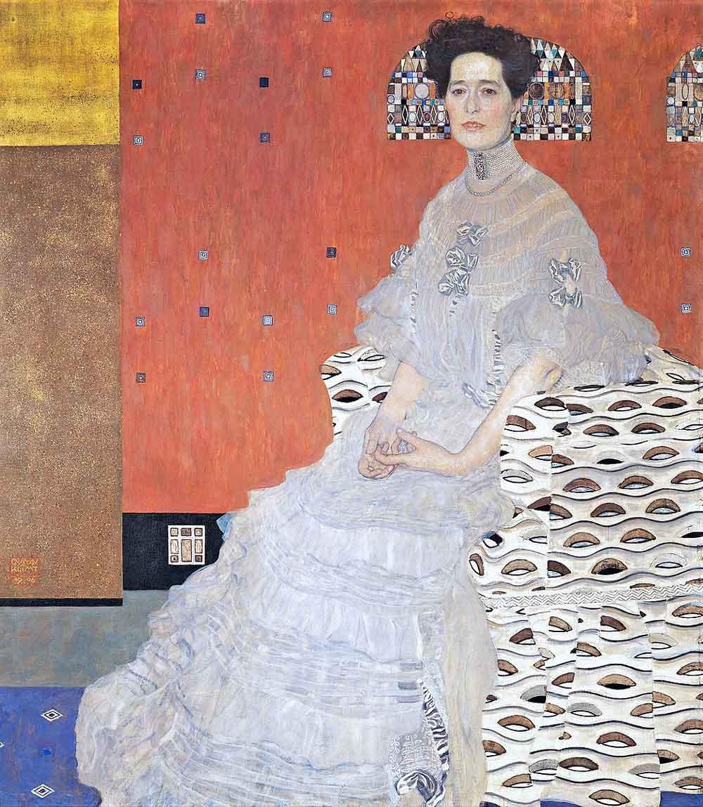 Gustav Klimt, Portrait of Fritza Riedler